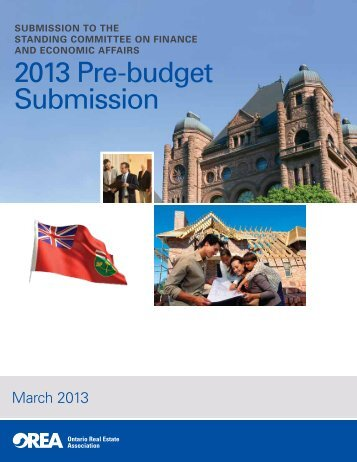2013 Pre-budget Submission