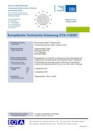 Europäisch Technische Zulassung - Treppenmeister