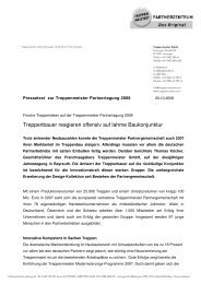 Pressetext PaTa 2008 - Treppenmeister