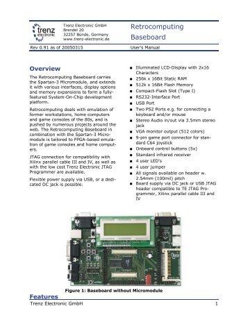 Retrocomputing Baseboard