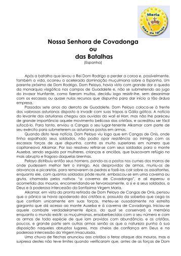 Nossa Senhora de Covadonga ou das Batalhas - Maria Mãe da Igreja