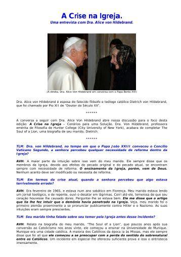 A Crise na Igreja. - Maria Mãe da Igreja