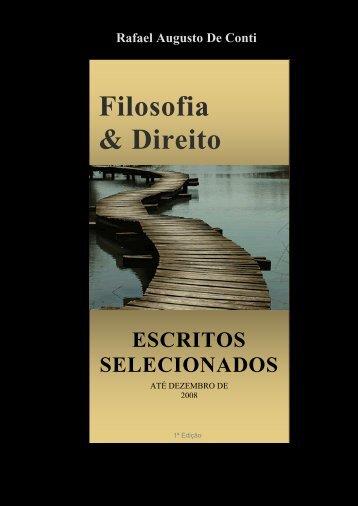 Escritos Selecionados até dezembro de 2009 - Rafael De Conti