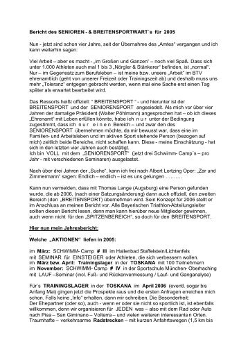 2005 - Bayerischer Triathlon Verband