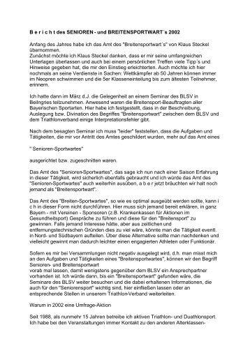 2002 - Bayerischer Triathlon Verband