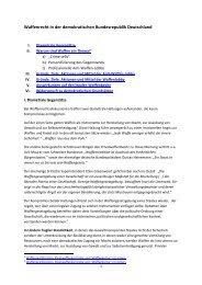 Waffenrecht in Demokratien - Triebel