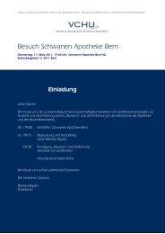 Besuch Schwanen Apotheke Bern - Verband Schweizer ...