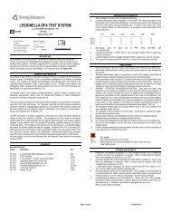 LEGIONELLA DFA TEST SYSTEM - Trinity Biotech PLC