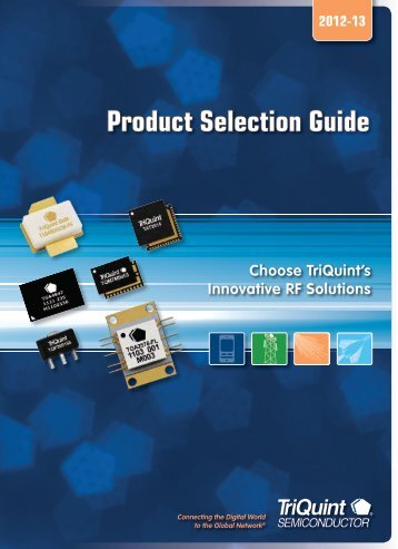 Product Selection Guide - TriQuint Semiconductor