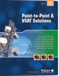 VSAT / PtP Radio Products 2012 - TriQuint Semiconductor