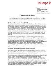 Press Statement Triumph International_Global Turnover 2011