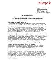Global Press Statement 2012 - Triumph International