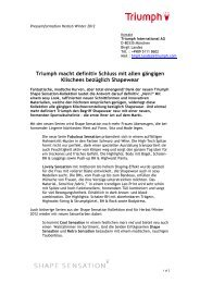 Pressetext & Preisliste (PDF, 0.87 MB) - Triumph International