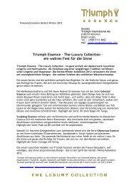 Pressetext & Preisliste (PDF, 1.28 MB) - Triumph International