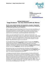 Pressetext & Preisliste (PDF, 0.48 MB) - Triumph International