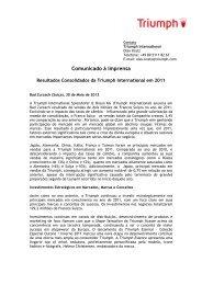 Press Statement Global Turnover 2011 - Triumph International