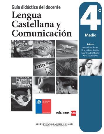 Lengua Castellana y Comunicación Guía didáctica del docente