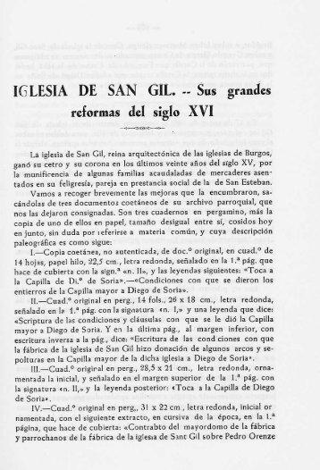 IGLESIA DE SAN GIL. -- Sus grandes reformas del siglo XVI