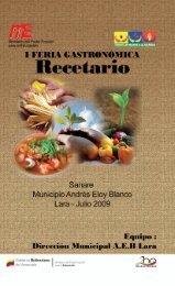 I feria gastronómica recetario - Secretaría Ejecutiva de Educación ...