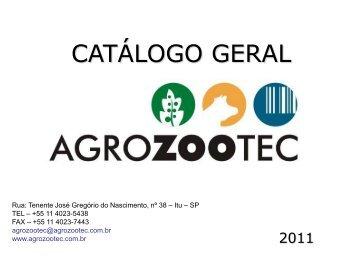 CATÁLOGO GERAL - Agrozootec
