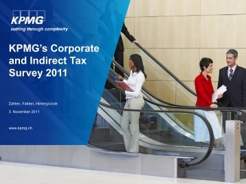 Kpmg's Corporate and Indirect Tax Survey 2011 - Kantonale ...