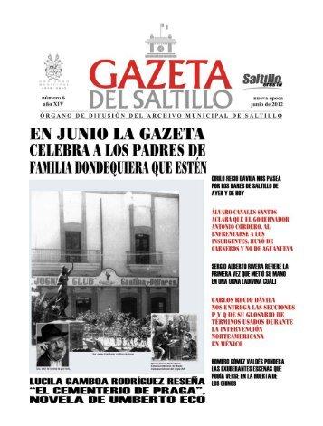 gazeta junio 2012.pmd - Archivo Municipal de Saltillo