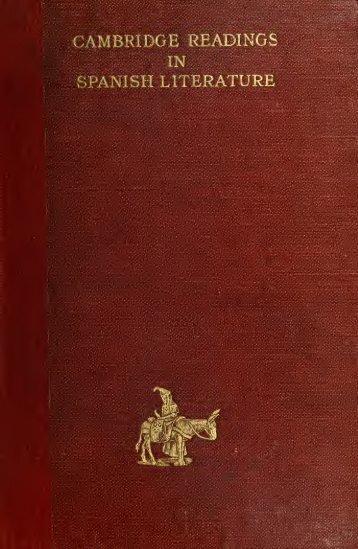 Cambridge readings in Spanish literature - University of Toronto ...