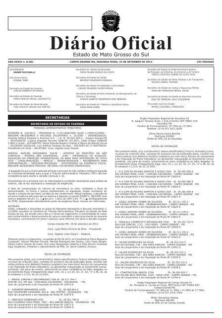 ab38dd57c Diário Oficial n. 8.281 - Diário Oficial de MS