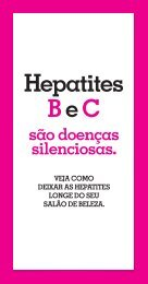 Folheto Hepatite Manicure - Hepatites Virais