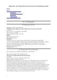 Vorlesungsverzeichnis Sommersemester 2011 - Institut für ...