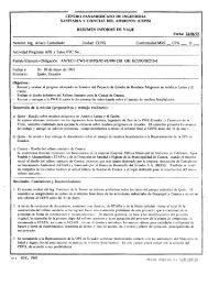 Informe de viaje a Quito, Ecuador - BVSDE Desarrollo Sostenible