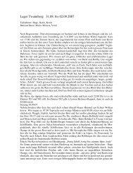 Lagerbericht Twannberg - Vereinigung Cerebral