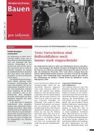 Rollstuhlgängigkeit in der Schweiz - Vereinigung Cerebral