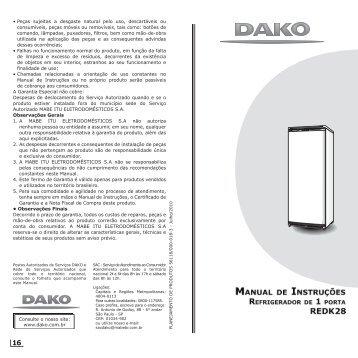 • Peças sujeitas a desgaste natural pelo uso, descartáveis ou ... - Dako