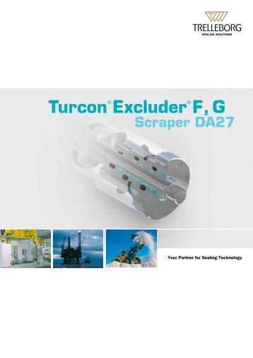 Turcon Excluder F, G, Scraper DA27 - Trelleborg Sealing Solutions