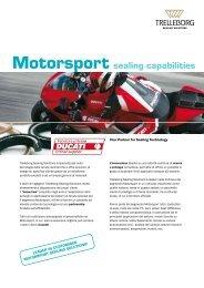 Motorsport sealing capabilities - Trelleborg Sealing Solutions