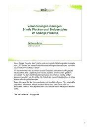 Veränderungen managen: Blinde Flecken und Stolpersteine im ...