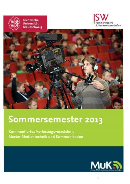 Kommentiertes Vorlesungsverzeichnis MA MuK SoSe 2013