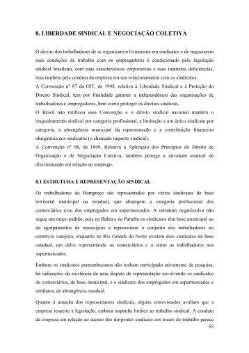 8. liberdade sindical e negociação coletiva - Instituto Observatório ...