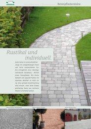 Rustikal und individuell. - UHL Verbundstein AG