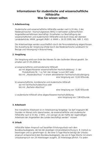 Informationen für studentische und wissenschaftliche Hilfskräfte