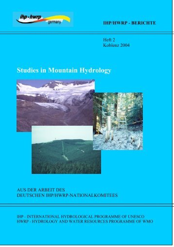 Studies in Mountain Hydrology