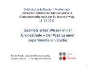 Geometrisches Wissen in der Grundschule - Technische Universität ...