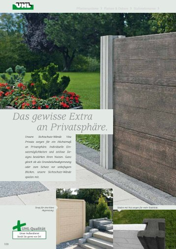 Exklusive Mauer-Abdeckplatten - UHL Verbundstein AG