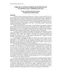 O BRASIL E AS NOVAS NORMAS DE INTERVENÇÃO: O ... - PUC-Rio
