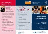 mathematik zum anfassen - Technische Universität Braunschweig