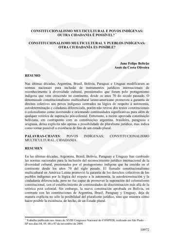 10972 constitucionalismo multicultural e povos ... - publicaDireito