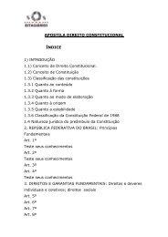 APOSTILA DIREITO CONSTITUCIONAL ÍNDICE 1 ... - SOS Estagiarios
