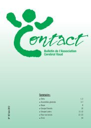Bulletin de l'Association Cerebral Vaud - Vereinigung Cerebral