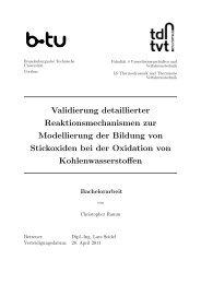 Validierung detaillierter Reaktionsmechanismen zur Modellierung ...